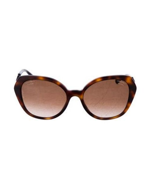 68927b7704d3a Chanel - Brown Beaded Butterfly Sunglasses - Lyst ...