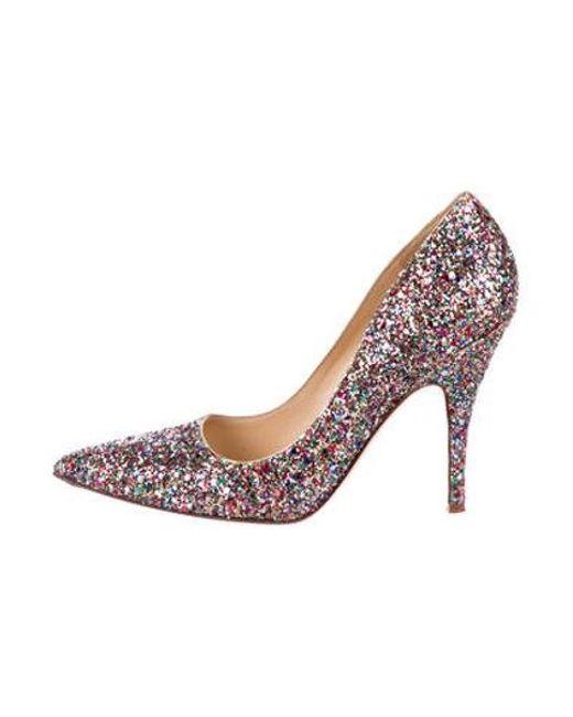 270f113fd5a0 Kate Spade - Metallic Glitter Pointed-toe Pumps Gold - Lyst ...