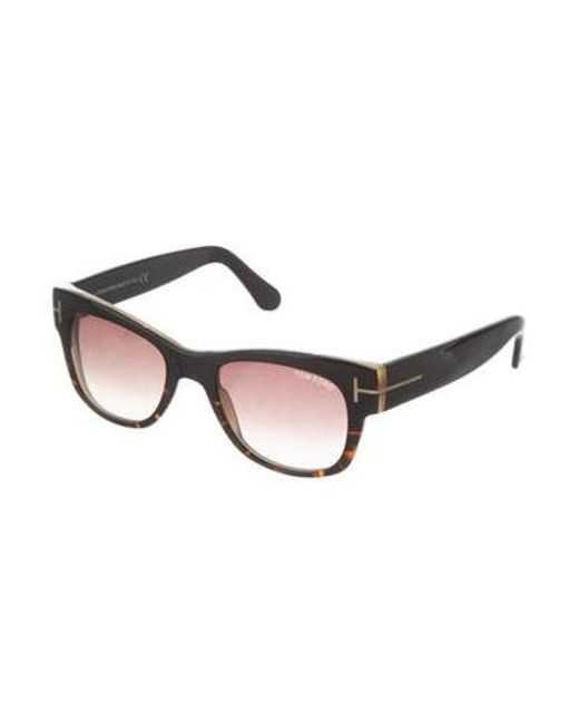 8e9018ec855 ... Tom Ford - Metallic Cary Tinted Sunglasses Brown - Lyst ...