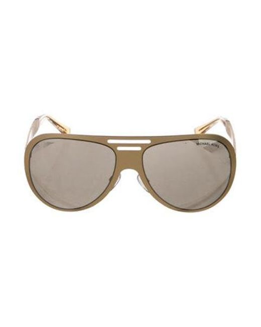 ddeb2bec16d8 Michael Kors - Metallic Clementine Tinted Sunglasses Gold - Lyst ...