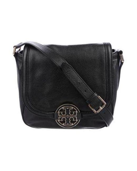 67824ef380fc Tory Burch - Metallic Amanda Crossbody Bag Black - Lyst ...