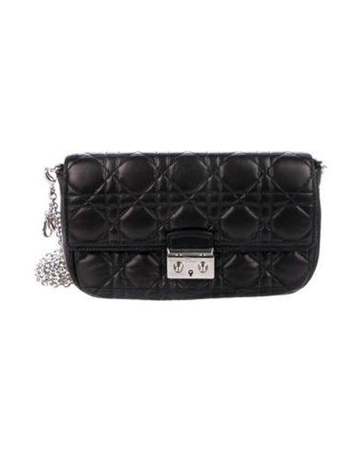 291c9333d5b7 Dior - Metallic Miss Promenade Pouch Bag Black - Lyst ...