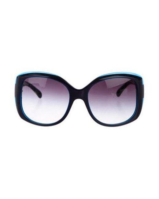 ca3513516540 Chanel - Metallic Square Logo Sunglasses Silver - Lyst ...