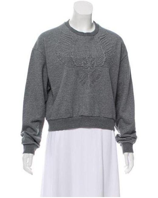 3.1 Phillip Lim - Gray Embroidered Crew Neck Sweatshirt Grey - Lyst