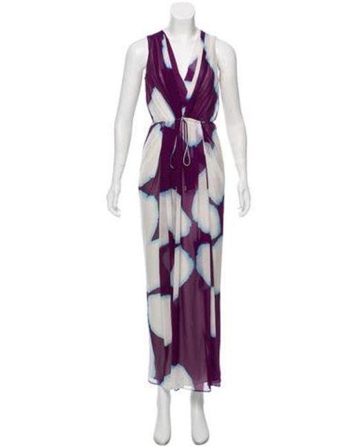 Diane von Furstenberg - White Hailey Silk Dress - Lyst