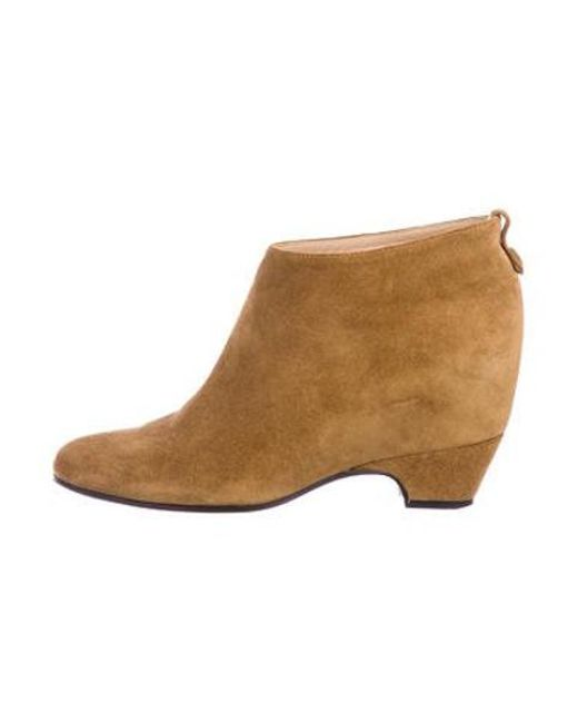 4c0cde8a18d2 Golden Goose Deluxe Brand - Metallic Suede Barbra Ankle Boots Brown - Lyst  ...