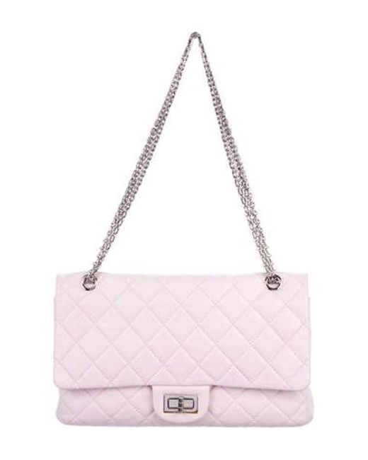 6a6eb3e8a41d Chanel - Metallic Reissue 227 Double Flap Bag Pink - Lyst ...