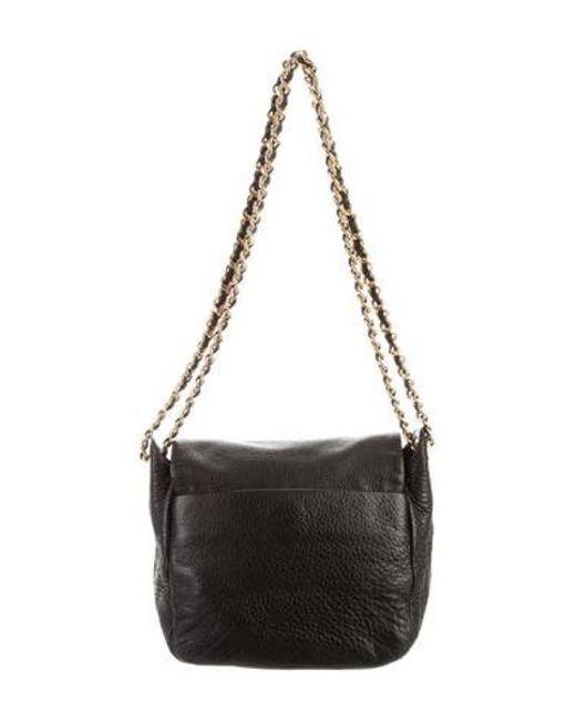 6ac3b0ad7f7 ... Tory Burch - Metallic Leather Shoulder Bag Black - Lyst