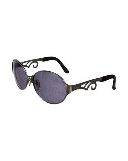 d2b5db7990d ... Jean Paul Gaultier - Metallic Tinted Round Sunglasses Silver - Lyst ...