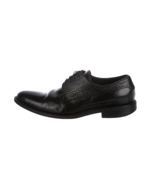 fb0dee57b36 Louis Vuitton - Black Leather Derby Shoes for Men - Lyst ...