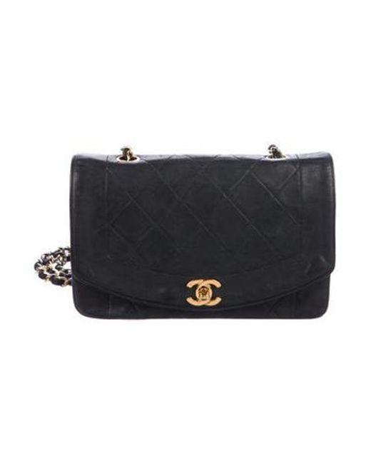 65ac470cf14ef7 Chanel - Metallic Vintage Classic Flap Bag Black - Lyst ...