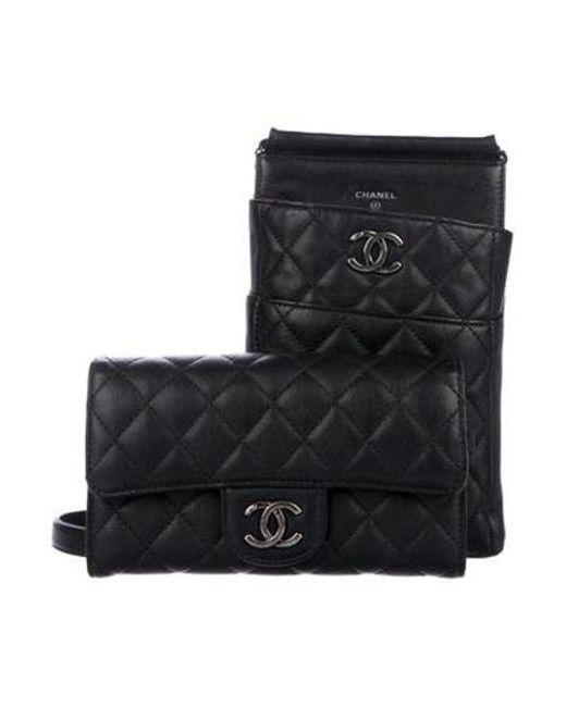Chanel - Black 2016 Aged Calfskin Cc Crossbody Bag W  Wallet - Lyst ... 2f4938dc36476
