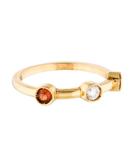 Chanel | Metallic 18k Three Stone Ring Yellow | Lyst