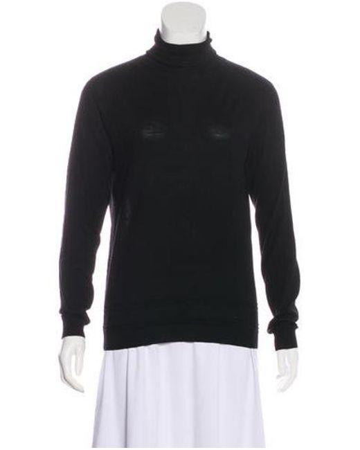 3d26f99f6a46 Louis Vuitton - Black Monogrammed Wool Top - Lyst ...