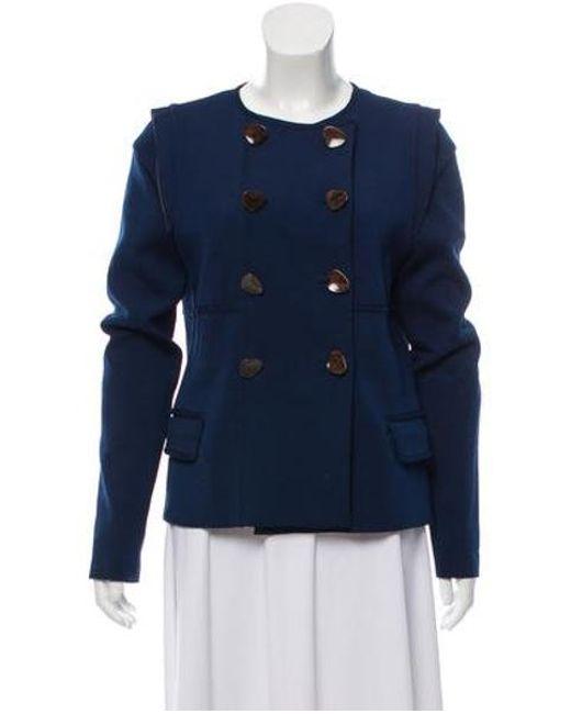 128a0c07211c7 Lela Rose - Blue Lela Structured Double-breasted Jacket - Lyst ...