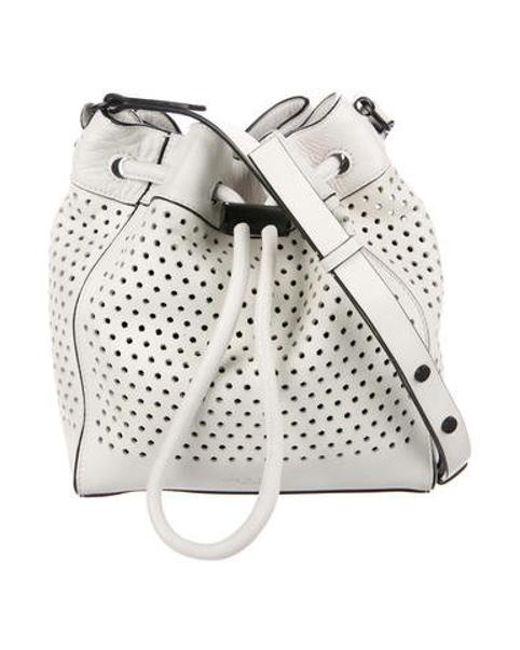 7eec9cccbd88 Rag   Bone - White Perforated Aston Bucket Bag - Lyst ...