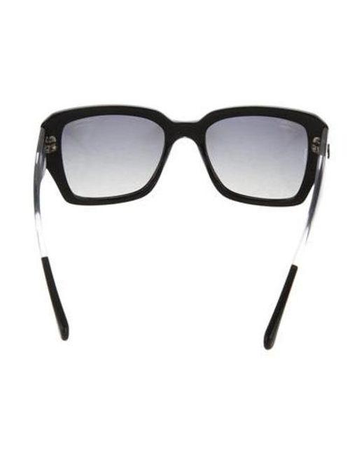 8ffe58781fe ... Chanel - Black Polarized Cc Sunglasses - Lyst ...
