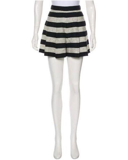 9eac16cb73a6 Alice + Olivia - Metallic Striped Mini Shorts W/ Tags Black - Lyst ...