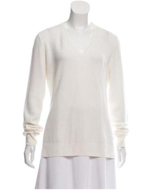 8b26f5ca96ce Lyst - Loro Piana Cashmere V-neck Sweater Neutrals in Natural