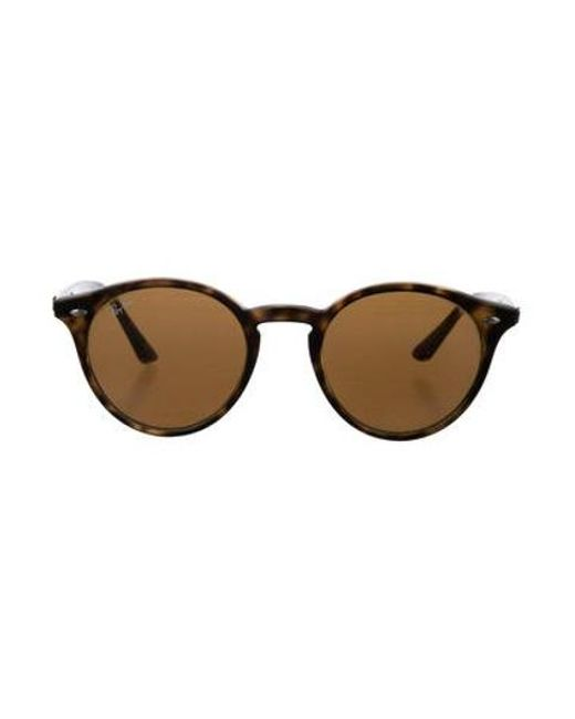 dc04f24aa0 Ray-Ban - Brown Round Tinted Sunglasses - Lyst ...
