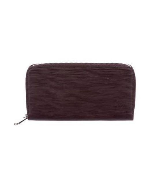 5b5d87e6d3dd Louis Vuitton - Metallic Epi Zippy Wallet Prune - Lyst ...