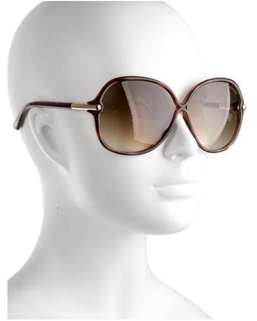 2a1311e1cb ... Tom Ford - Brown Islay Round Sunglasses - Lyst