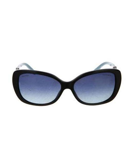 0e9efda23b57 Tiffany   Co - Metallic Acetate Round Sunglasses Black - Lyst ...