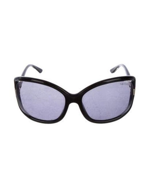f2f6f94add5a Tom Ford - Metallic Tinted Acetate Sunglasses Black - Lyst ...