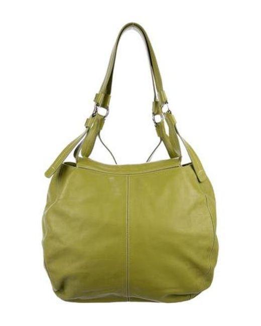 423c81151c4c ... Tod s - Metallic Leather Hobo Bag Green - Lyst