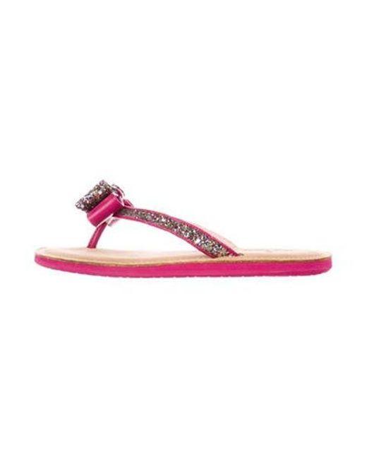 1454865de045 Kate Spade - Metallic Glitter Bow Sandals Fuchsia - Lyst ...
