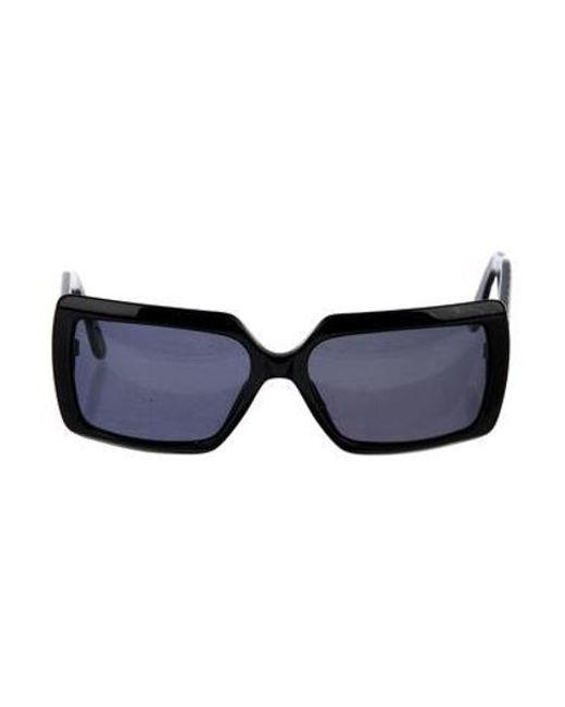 853f64408c9e Chanel - Metallic Quilted Cc Sunglasses Black - Lyst ...