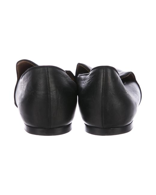 9f99e7caac4 ... The Row - Black Alys Leather Loafers - Lyst ...