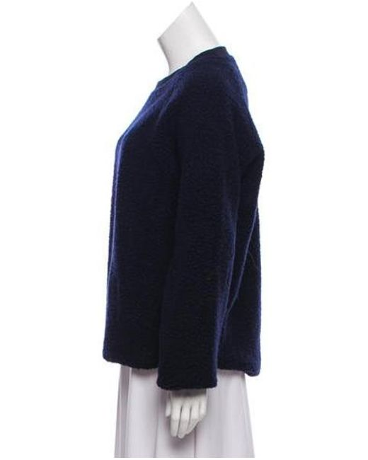 9bf4d1408f9f Lyst - Acne Wool-blend Crew Neck Sweater Navy in Blue