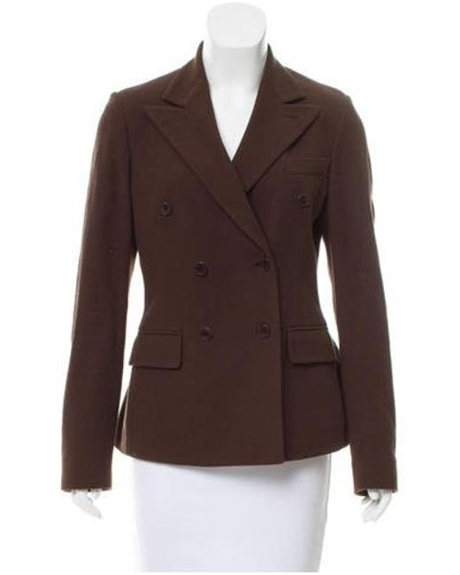 Loro Piana - Brown Double-breasted Notch-lapel Jacket - Lyst