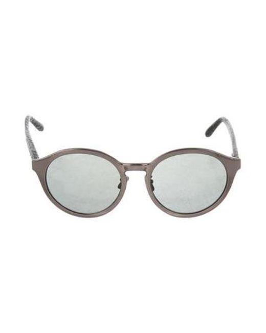 6a774452dc Linda Farrow - Black Cat 3 Python-trimmed Sunglasses - Lyst ...