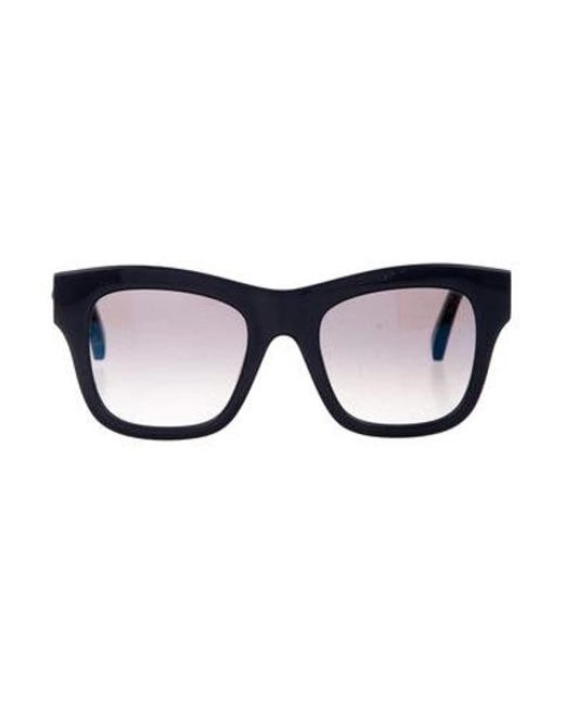 8e8b8115a3 Stella McCartney - Metallic Chain-link Gradient Sunglasses Blue - Lyst ...
