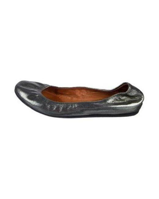 41aeaf11101 Lanvin - Metallic Ballet Flats Bronze - Lyst ...