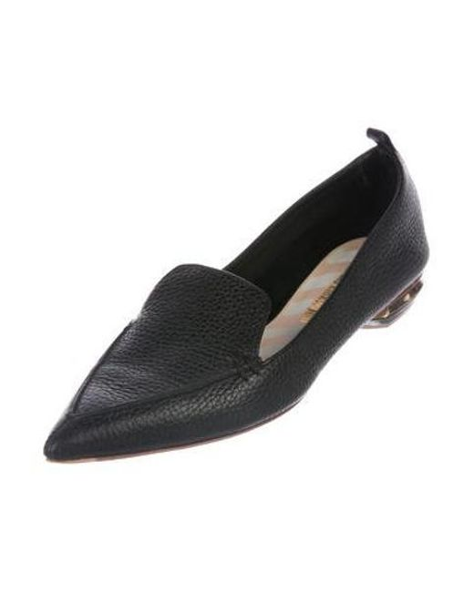 d0f29202bb0 ... Nicholas Kirkwood - Black Leather Pointed-toe Loafers - Lyst ...
