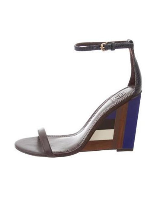 65328700c Tory Burch - Metallic Color-cube Wedge Sandals W/ Tags Brown - Lyst ...