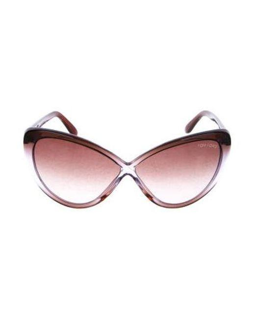 73e61965827 Tom Ford - Purple Cat-eye Gradient Sunglasses - Lyst ...
