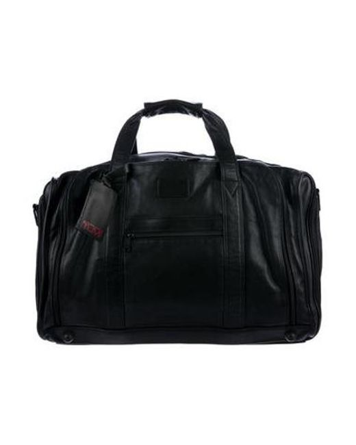 Tumi - Black Leather Carry-on for Men - Lyst