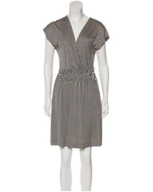 88aa100e260c Tory Burch - White Silk Jersey Knee-length Dress - Lyst ...