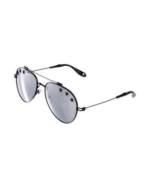 d1da8ed7d4ad9 ... Givenchy - Black Stars Mirrored Aviator Sunglasses for Men - Lyst ...