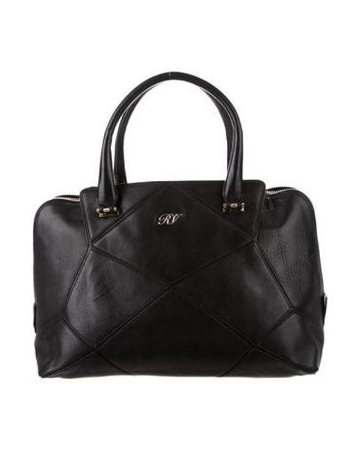 8287aed74e Roger Vivier - Metallic Leather Handle Bag Black - Lyst ...