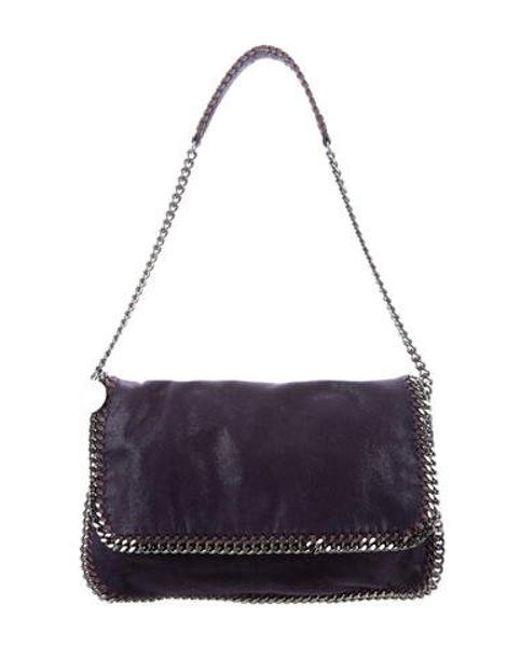 f21c8d9c1152 Stella McCartney - Metallic Shaggy Deer Falabella Shoulder Bag Purple - Lyst  ...