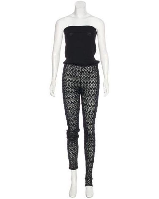 37aef0d3d9 Missoni - Black Strapless Knit Jumpsuit - Lyst ...