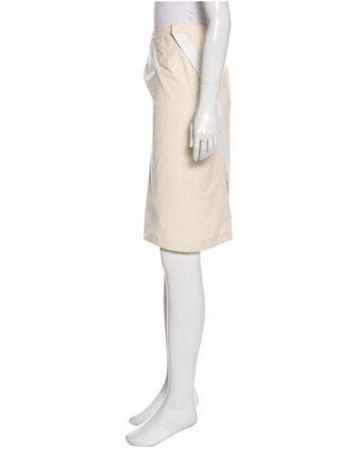 162b00a73 ... Bottega Veneta - White Knee-length Pencil Skirt - Lyst ...