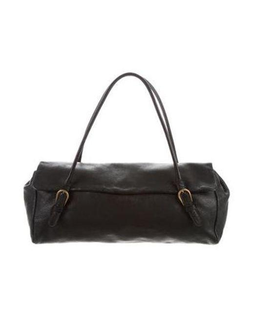 8058a04e86dc Miu Miu - Metallic Miu Grained Leather Shoulder Bag Black - Lyst ...