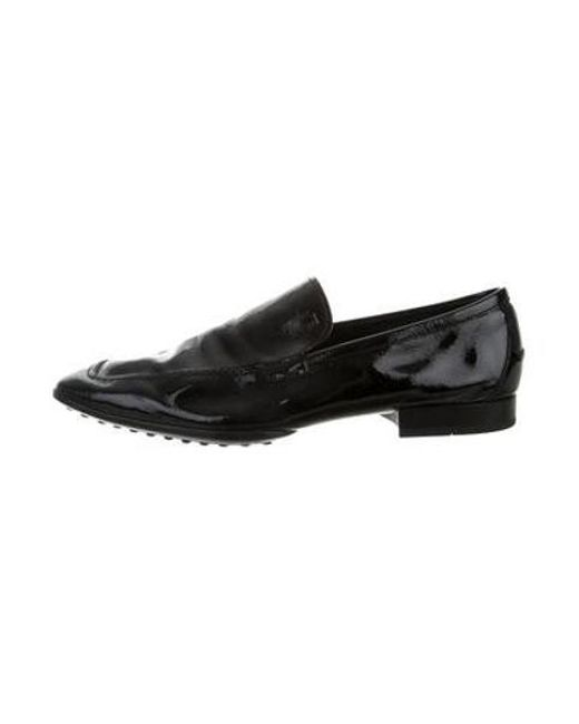 Tod's - Black Patent Leather Loafers for Men - Lyst