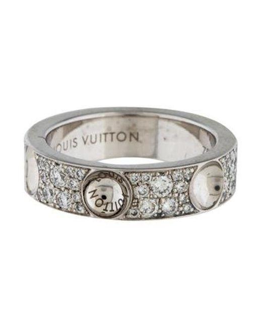 Louis Vuitton - Metallic Diamond Small Empreinte Band White - Lyst